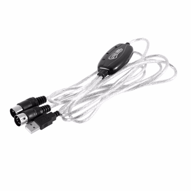 USB IN OUT MIDI Midi usb interface kabel konverter PC Musik tastatur ...