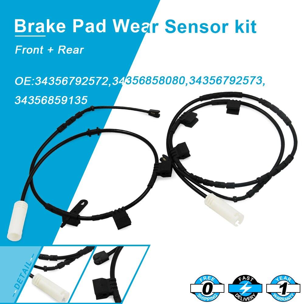 For  Mini Cooper R55 R56 Brake Pad Wear Sensor kit F+R 34356789329+34356789330