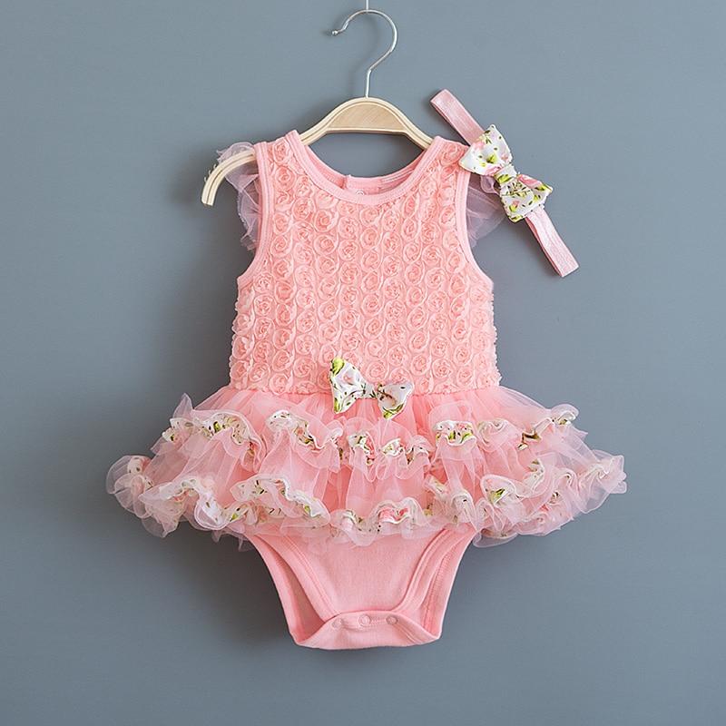 1pc Baby girls clothes autumn bodysuit birthday party princess cotton bodysuit