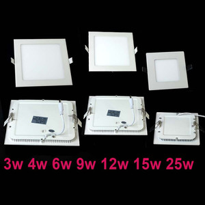 Image 3 - 20 pz/lotto Dimmable Ultra sottile 3 W/4 W/6 W/9 W/12 W/15 W/25 W LED Da Incasso A Soffitto Griglia di Incasso/Sottile Pannello Quadrato luce