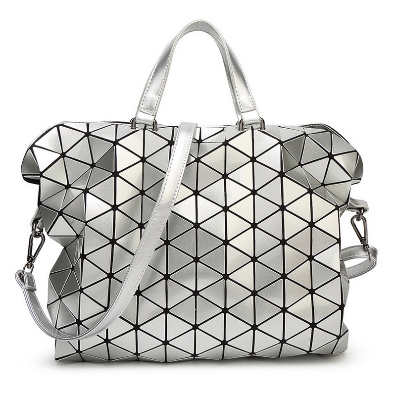 Alieme Для женщин сумка Fashion Gloss BAOBAO сумка Геометрия Вышивка Крестом Пакет Блёстки saser обычный складной Сумки портфель сумка