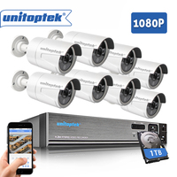 8CH CCTV System 1080P HDMI AHD DVR NVR 8PCS 2 0MP IR Security Camera Outdoor IP66