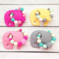 Handmade FDA BPA free Food Grade Safe Silicone Elephant Teething Ring baby teether silicone teether toy