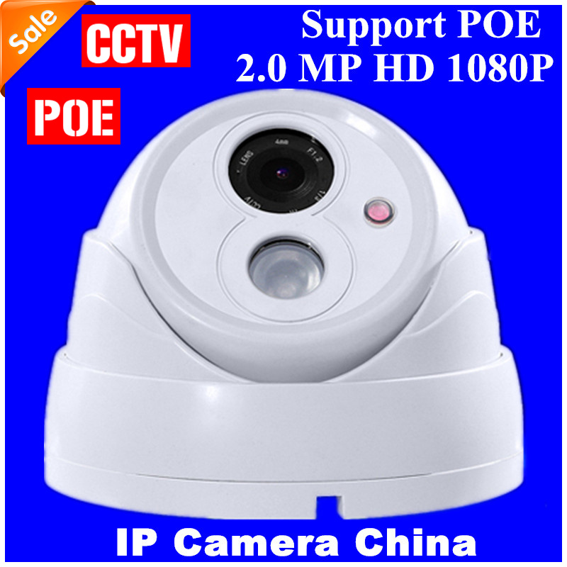 2.0 Megapixel Indoor Dome IP Camera HD 1080P Security Camera CCTV 1PC ARRAY LED Support POE Camera IP