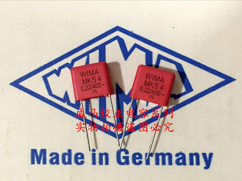 2019 Hot Sale 10pcs/20pcs Germany WIMA Capacitor MKS4 400V0.22UF 400V224 220n P: 10mm Audio Capacitor Free Shipping