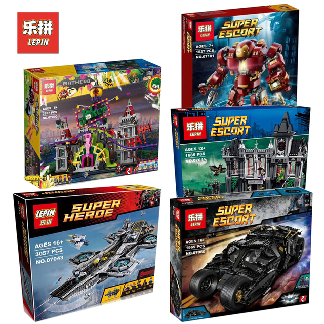 Lepin Super Hero Set 07043 07044 07060 07090 07101 07107 Compatible Legoing 76105 Model Building Kits Blocks Bricks Boy Toy Gift