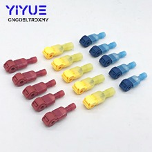 30PCS/15Pairs Male Spade & Lock Quick Splice Wire Connector Set Snap Fast Easy Lock Electrical Cable Crimp Terminal 22-10 AWG 40pcs blue t tap insulated quick splice wire terminal spade crimp connector combo set 2 5 4 0mm2 awg 16 14