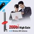 RP-SMA 2.4 GHz 20dBi WIFI Router Antena Para Modem Pci Sem Fio WLAN Antena RP-SMA conector macho 2.4 GHz Sem Fio aérea
