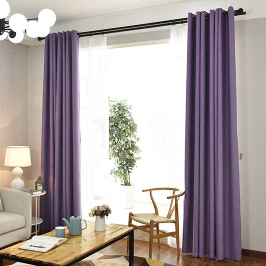 Hot Sale #8afd2 - Purple Color Polyester Fiber Blackout ...