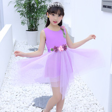 Childrens summer wear the new 2019 little girl dancing girls dress  han edition veil children childrens vest