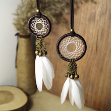 Best Deal Fashion Retro Bohemia Tassels Feather Pendant Necklace Dream Catcher Necklace Gift various colors