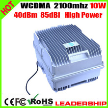 Free shipping WCDMA 3G W-CDMA 2100mhz 40dbm 85dbi cellular mobile/cell phone signal repeater booster amplifier detector