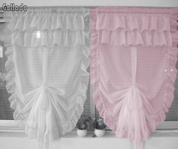 Korean girls model liftable balloon curtain living room bedroom screens one piece in curtains for Balloon curtains for living room