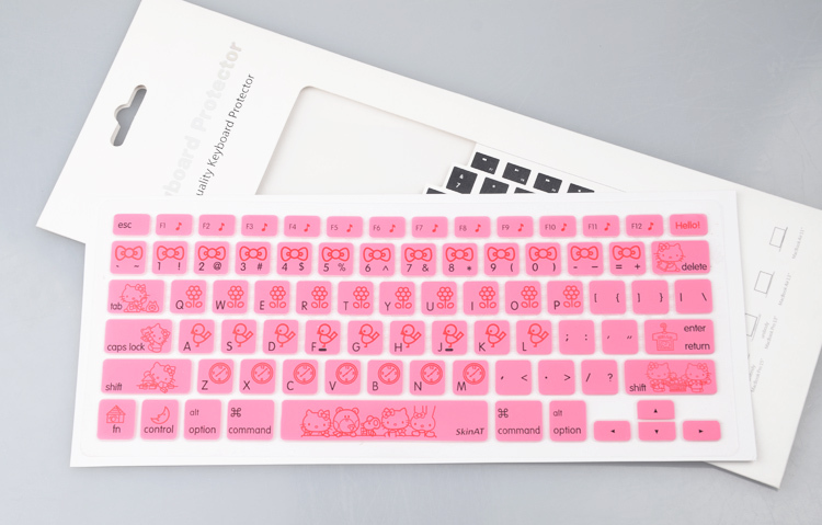"US Version Hello Kitty Silikon Soft Keyboard Cover Skin Klistermärke för Apple 11 ""Macbook Air Pro / näthinna 13 15 17 Gratis frakt"