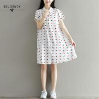 c2f2d35800008 High Quality Short Sleeve Turn Down Collar Dresses Mori Girl Summer Dress  2019 Women Casual Lovely