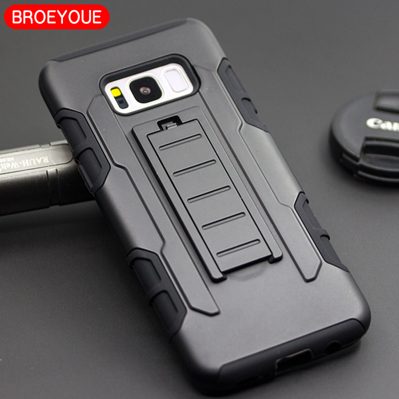 BROEYOUE Armor Case For Samaung Galaxy A5 A7 2017 J2 J3 J5 J7 Prime S8 Plus Note 8 Hard Stand Luxury Phone Case Shell Coque Capa