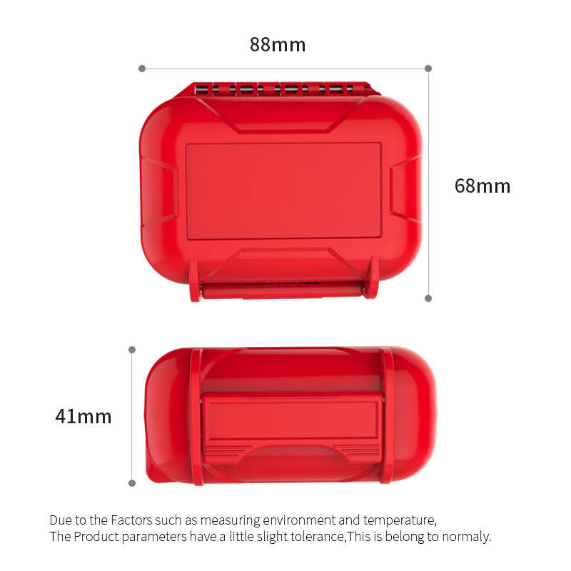KZ żywica abs wodoodporne pudełko odporność na upadek etui ochronne przenośne kolorowe przenośne trzymać schowek Case dla KZ zsn CCA C10