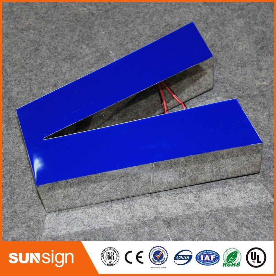 Оптовая продажа Нержавеющая сталь акриловые светодиодные буквы 3D