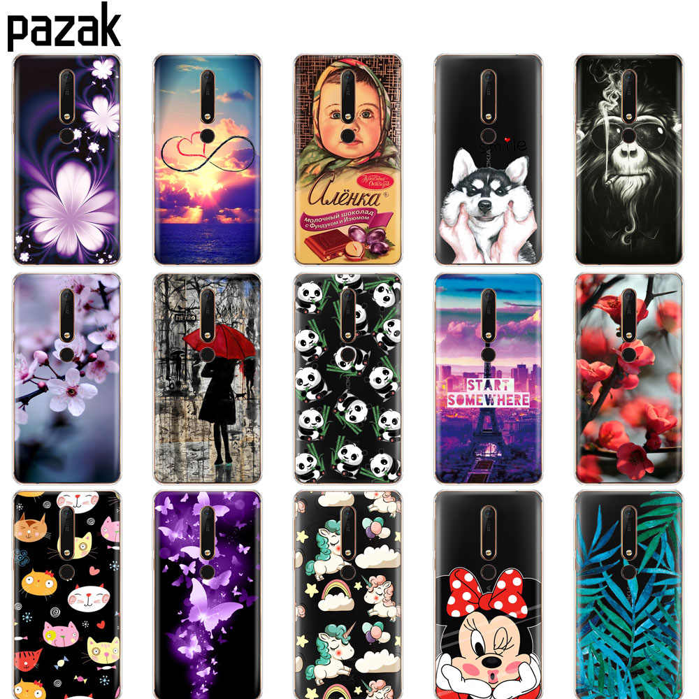 Silicon case for Nokia 6 6.1 7 plus 8 9 nokia 6 2018  x5 x6 case soft tpu phone back cover Coque bumper painting pattern clear