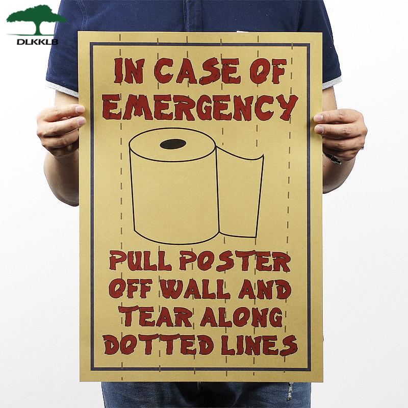Dlkklb Movie Poster Kraft Paper Funny Posters Adornment Of Toilet Paper Bar Cafe Wall Stickers Posters Home Decoration