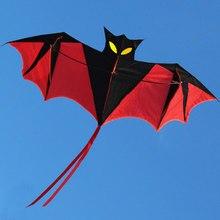 Высокое качество, 1,8 м, красная летучая мышь, Мощный воздушный змей, смоляная Удочка с ручкой воздушного змея и леской, хорошо летит