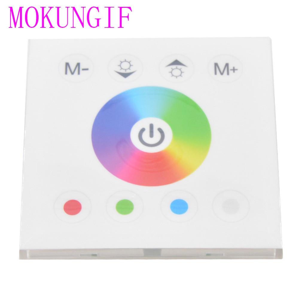 5 Stücke Tm08 Touch Panel Rgb Led Dimmer Wandregler Weiß/schwarz 12 V-24 V Max4a/ch Für Rgb/einfarbige Led-streifen Beleuchtung Zubehör