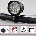 Wiederaufladbare 27000 Lumen Led LBike Licht 16x Cree XML T6 Radfahren Fahrrad Taschenlampe 16T6 Led Rennrad Lampe Mit 18650 batterie Pack