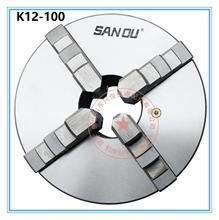 цена на Sanou K12-100 4 Inch 4 Four Jaw 80mm Lathe Chuck Cartridge with Self-Centering Machine Tools Accessories for Lathe