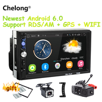 7 Screen 2 din Android 6.0 universal Car Radio Mirror link android radio RDS/AM Player GPS NAVIGATION WIFI Bluetooth MP5 Player