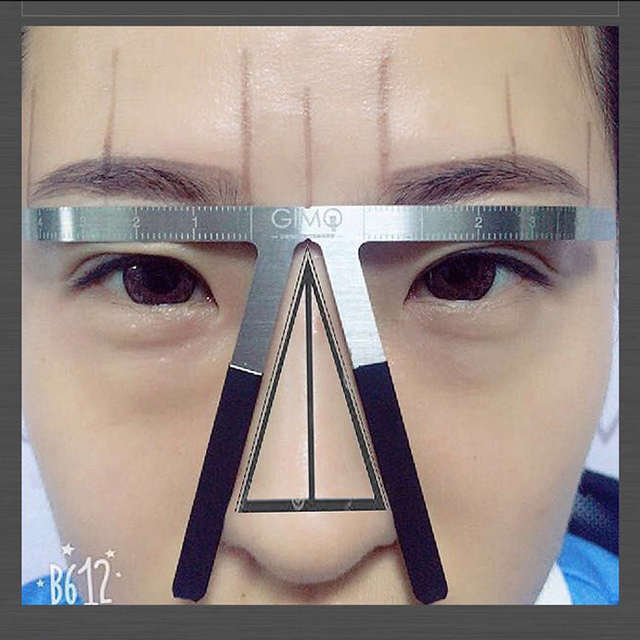 Permanent Makeup Stencil Microblading Eyebrow Tattoo Stencil Ruler Shaper Template Definition Grooming Stencil 5