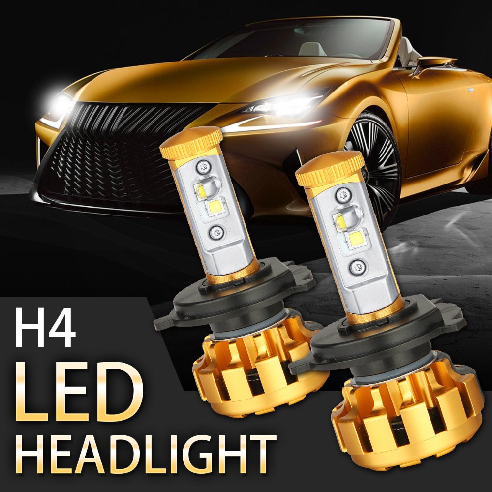 2x 40w for cree chip h4 led headlight conversion kit bulbs all in one headlights external lights. Black Bedroom Furniture Sets. Home Design Ideas