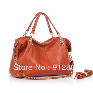 [ANYTIME] Factory Wholesale - First Layer Cowhide 100% Genuine Leather Women's Handbag Female Messenger Totes Bag Black