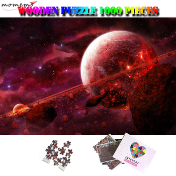 MOMEMO Magnificent Planet Puzzles für Puzzle Enfant 1000 Stück Holz Puzzle Erwachsene Gehirn Teaser Spielzeug Kinder Holz Puzzle
