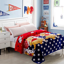 Home Textiles Winnie Pooh Cartoon Style Coral Fleece Blankets On Bed The Throws Can Be As