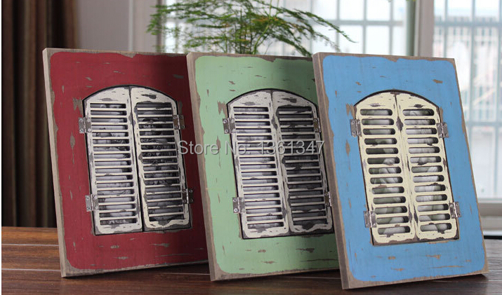 vintage wood photo frame fashion home decoration creative arts and crafts gifts like a window