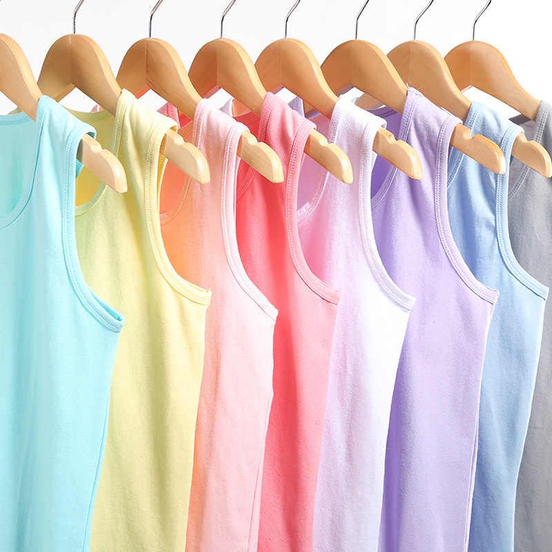VIDMID bébé garçons filles été réservoirs hauts garçons plage coton filles sous-vêtements pour enfants réservoirs enfants Camisoles vêtements 7070 01