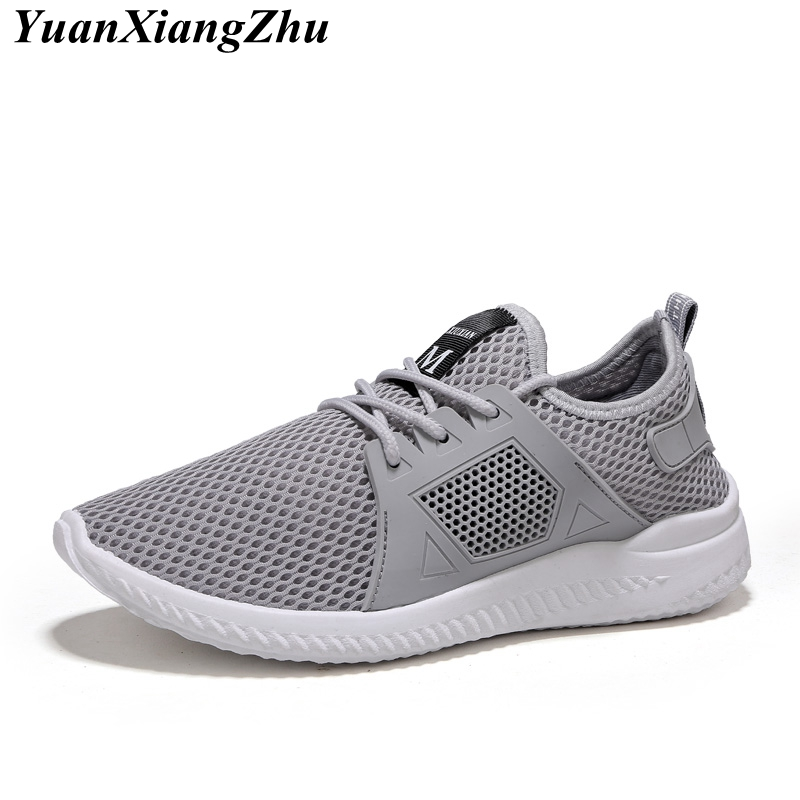 Breathable Air Mesh Casual Men Shoes 2018 Fashion Simple New Hollow Male Loafers Summer Brand Comfortable Lace-Up Flat Shoes Me