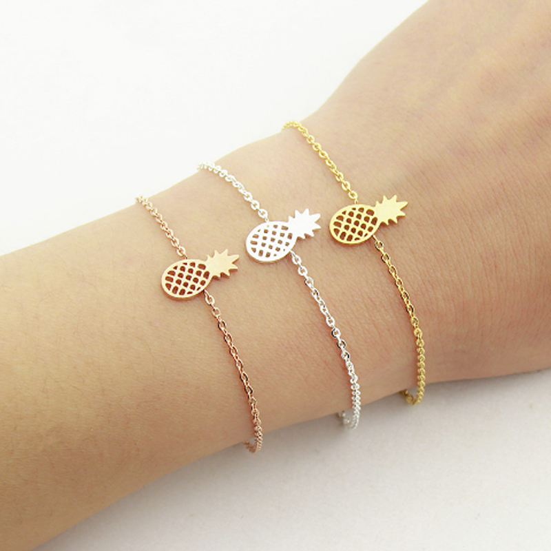 Minimal Pineapple Bracelets & Bangles Stainless Steel Bracelets For - Fashion Jewelry