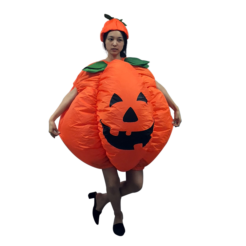 cosplay Halloween Christmas Carnival Pumpkin Inflatable Clothing Hat Full Funny Clothes adult costumes
