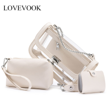 Lovevook transparent bags for women 2019 PVC clear jelly bag