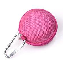 Rosa quente do Fone de Ouvido handsfree fone de ouvido Caso DIFÍCIL EVA-Clamshell/MALHA Estilo com Zipper Caixa, Bolso interno, e Durável Exteri