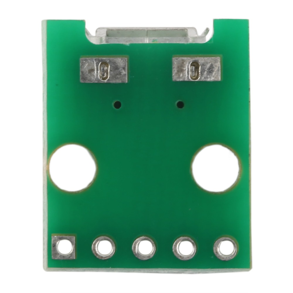 Green MICRO USB to DIP Adapter 5pin Female Connector B Type pcb Converter Pinboard 2.54 Super Deals 15mm x 13mm Drop Ship
