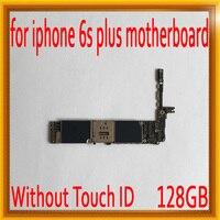 С системой IOS для iphone 6 S Plus 5,5 дюймов материнская плата без Touch ID, 128 ГБ Оригинал разблокирована для iphone 6 S Plus логические платы