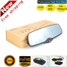 Car DVR mirror Camera 3.0″ screen Recorder Novatek 96650 Car Rear View Mirror Dashcam HD1080P 160 degree SOS WDR Night Vision