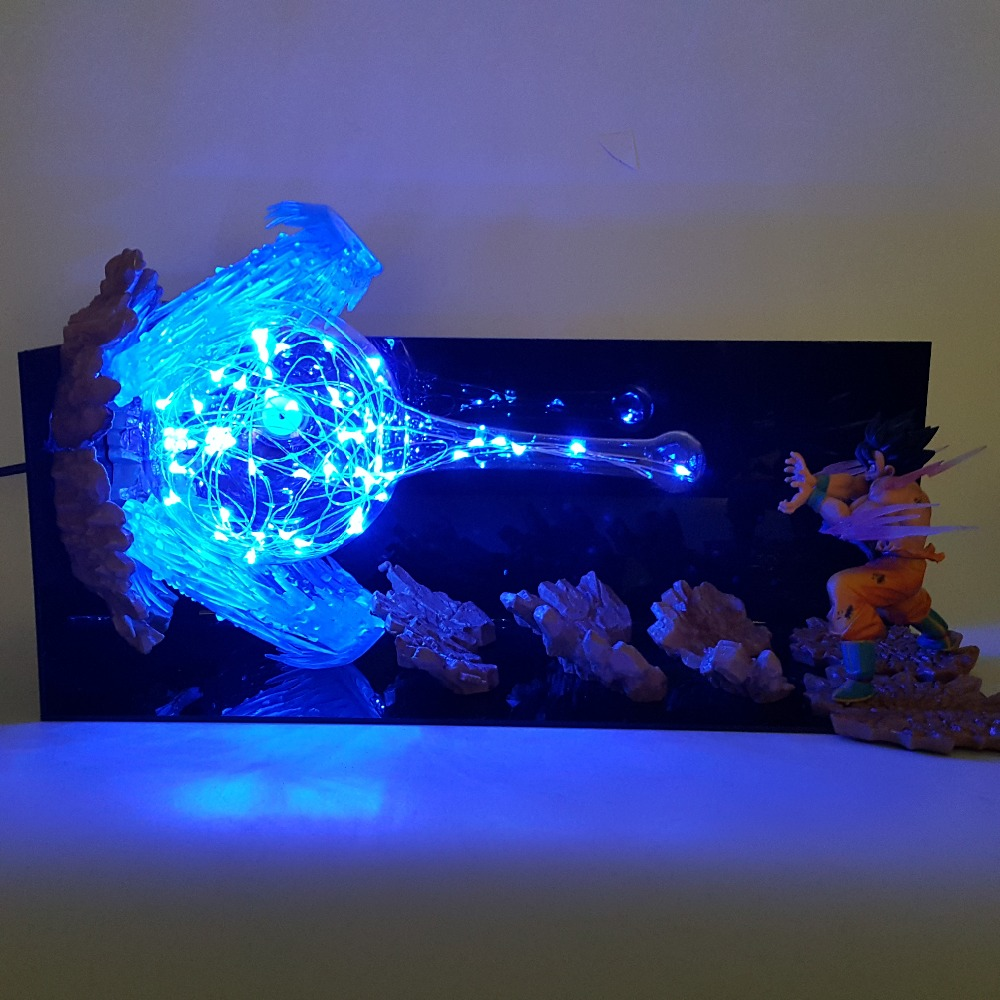 Dragon Ball Z led ligt Action Figure Modèle Jouet Fils Goku Kamehameha Led Explosion Scène DIY led lumière Dragon Ball super Goku