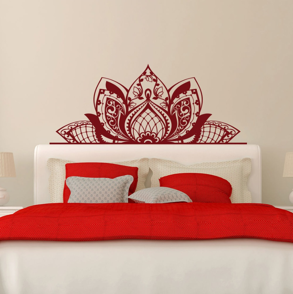 Wandtattoo Mandala Schmücken Die Betten Wand Vinyl Aufkleber Lotus ...