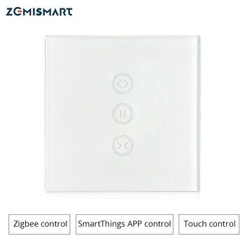 Interrupteur de mur rideau Zigbee EU Compatible avec le moyeu SmartThing pour rideau électrique