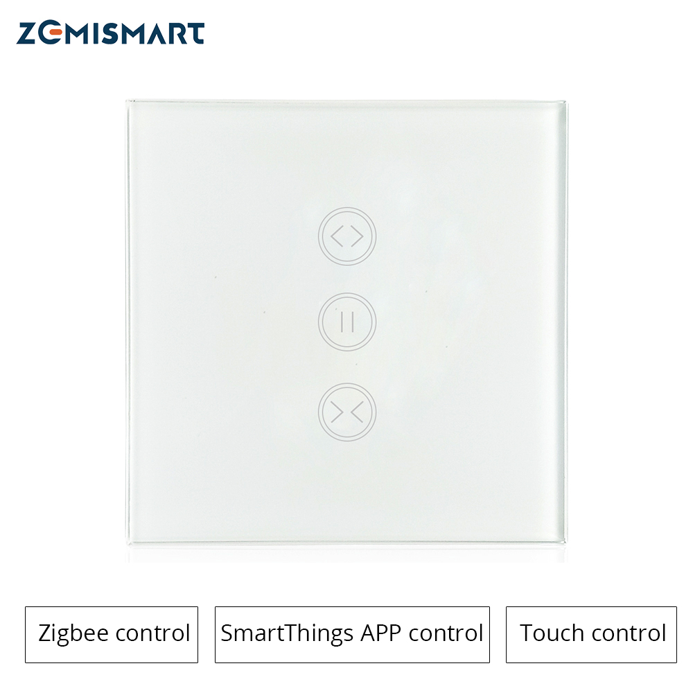Zigbee EU Curtain Wall  Switch Compatible With SmartThing Hub For Electric Curtain Motorized Roller Shade