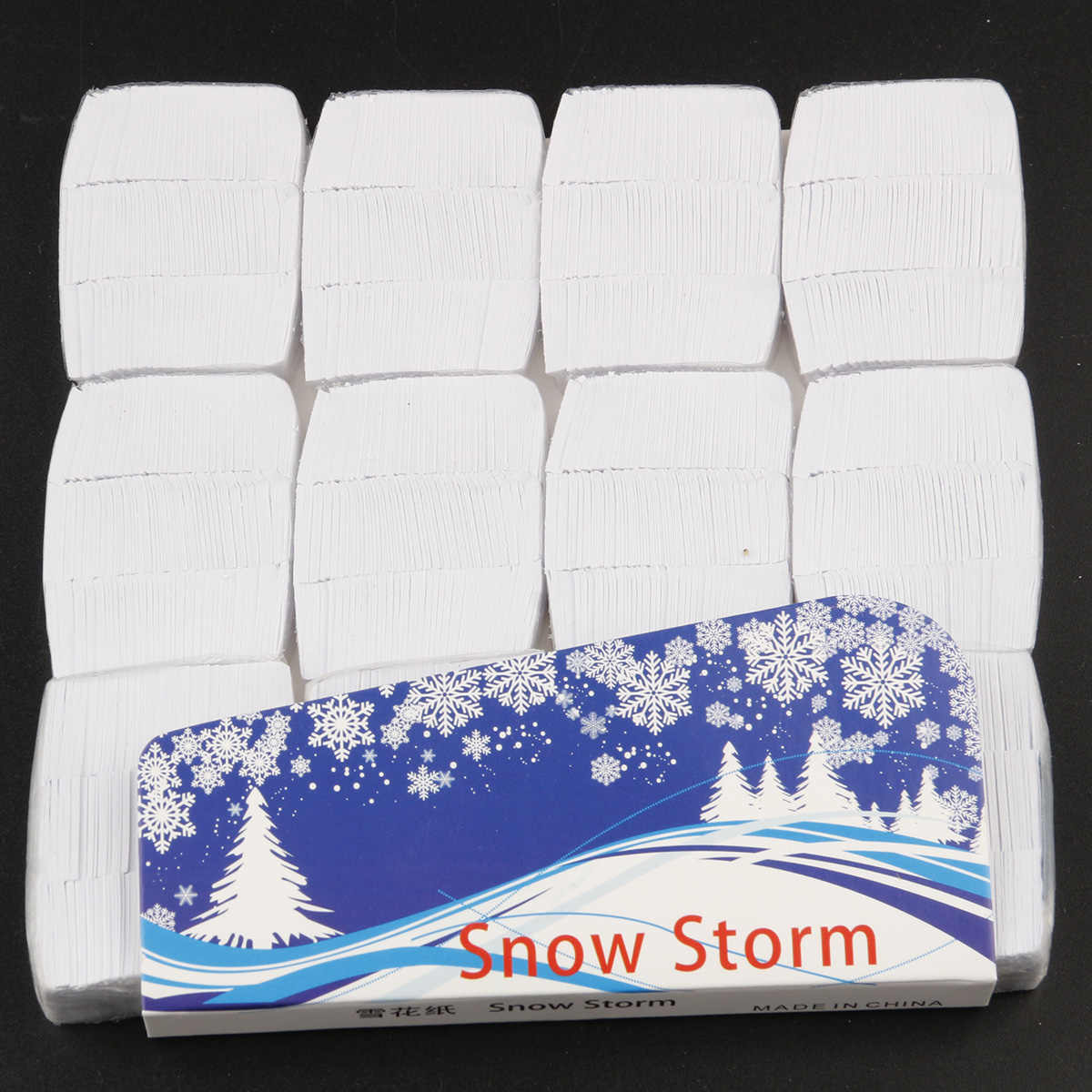 Snow Storm Magic Trick Toy 12pcs bag White Finger Snow Paper Snowflakes Props Toys White SnowStorm Magician for Children Adult