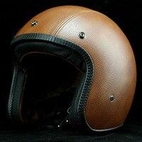 Cafe Racer capacete casco vintage retro motorcycle helmet Fit open face helmet nostalgic heavy motorcycle helmet